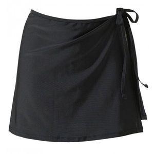 Other - Beach swim skirt M. Waist tie swim cover up black
